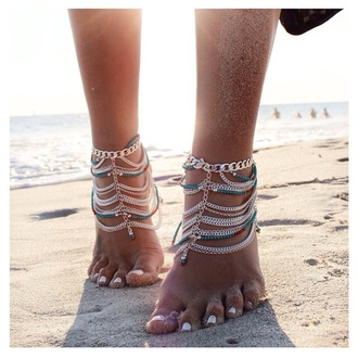 jewels anklet boho gypsy ankle jewelry