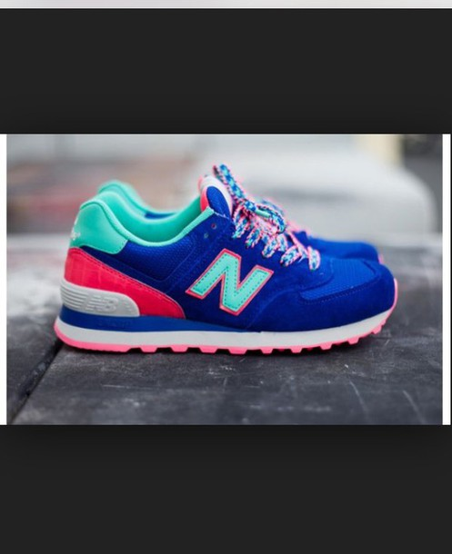 shoes new balance 574 blue candy
