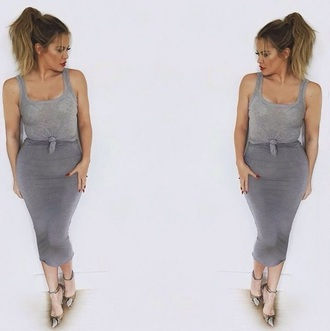 dress sexy sexy dress grey grey dress khloe kardashian keeping up with the kardashians kardashians