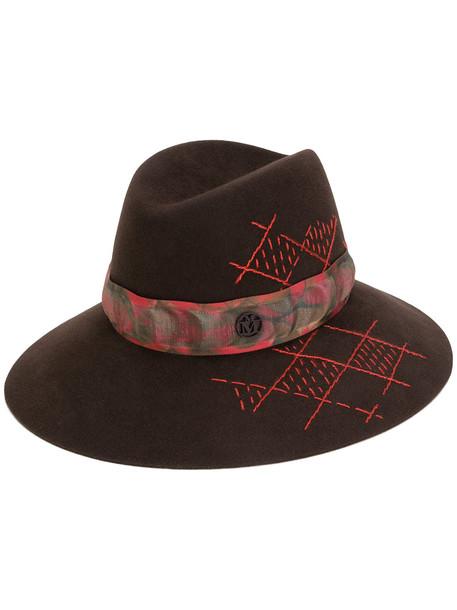 cross hat brown pattern