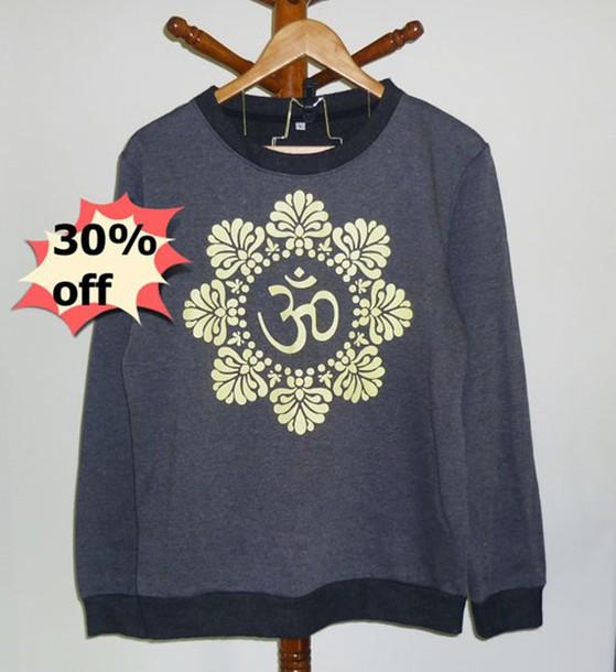 sweater aum om shirt top shirt t-shirt jumper