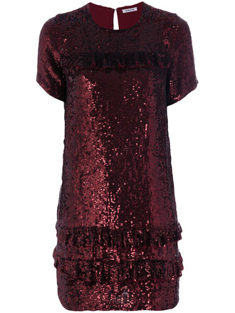 dress sequin dress women red
