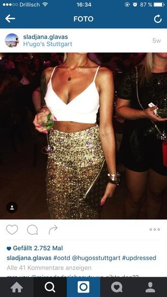 skirt laser cut skirt gold party