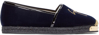 espadrilles navy velvet shoes