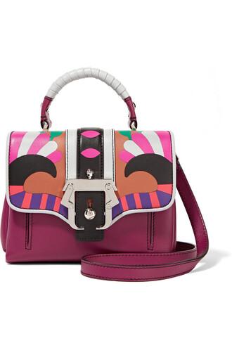 mini bag shoulder bag leather plum