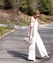shoes,fashionably lo,sunglasses,blogger,mini shoulder bag,nude bag,all white everything