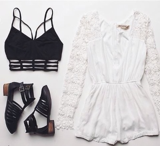 jumpsuit sandals ankle straps booties boots jelly look alikes woven shoes cut-out cut out ankle boots dress top blouse romper bralette shoes underwear shirt crop tops white romper lace dress black cool shoes white strappy