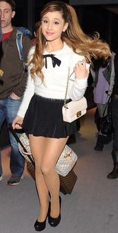 top,ariana grande,blouse,bows,bag