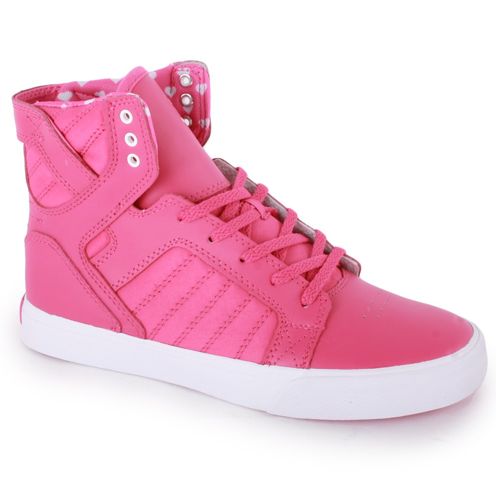 Supra Skytop Kids Trainers in Pink White