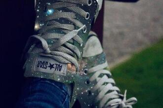 shoes converse galaxy print sneakers