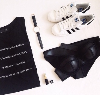 t-shirt written top black printed fashion tee