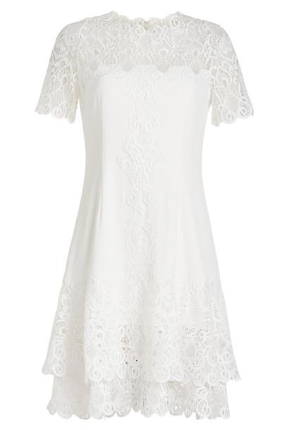Jonathan Simkhai Mini Dress with Lace  in white