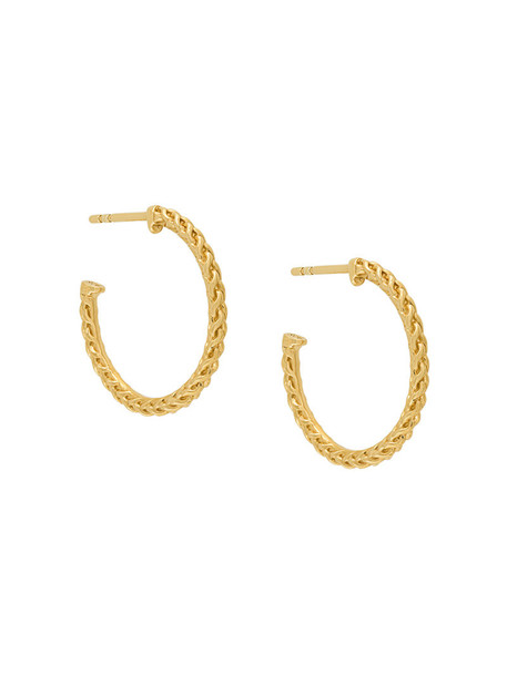 Astley Clarke women earrings hoop earrings gold grey metallic jewels