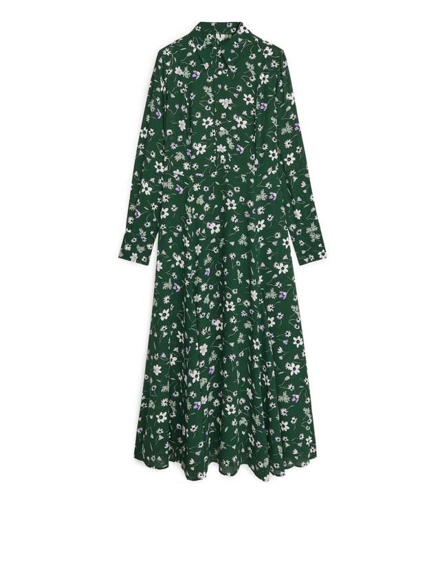 Floral Crêpe Dress