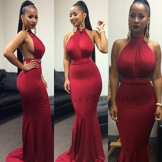musthave red dress silk red long tight classy beaded prom dress long dress prom dress red love and hiphop atlanta tammy charliesangel burgundy dress cute dress party dress sexy dress sexy party dresses outfit outfit idea summer outfits cute outfits spring outfits date outfit party outfits