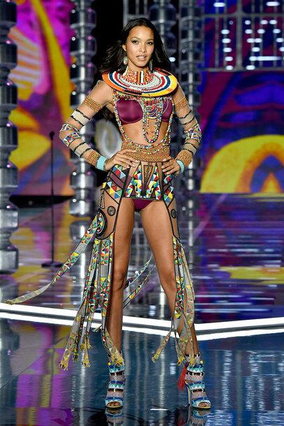 underwear bra bralette lais ribeiro model runway victoria's secret victoria's secret model panties