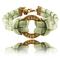 Circle brass 24 mm - rzemien szyty - shebijou - bransoletki przyjaźni