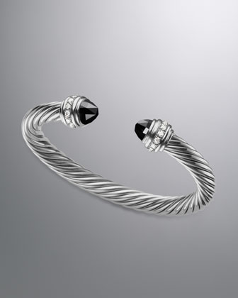 Yurman Cable Classics Bracelet with Black yx and Diamonds