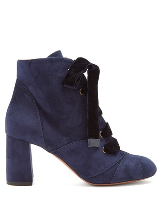 suede ankle boots ankle boots lace suede leaves navy shoes