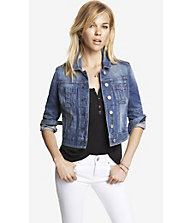 SHRUNKEN DENIM JACKET from EXPRESS