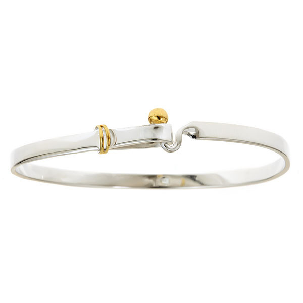 Gold Tone Chunky Chain Link Pave Crystal Stud Bracelet