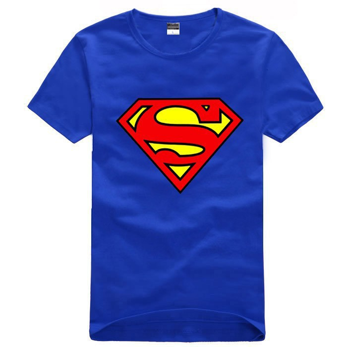 Free shipping Women's Men's casual O neck short sleeve t shirts for couples S  XXXL Cotton super man tee shirt Superman T Shirt-in T-Shirts from Apparel & Accessories on Aliexpress.com