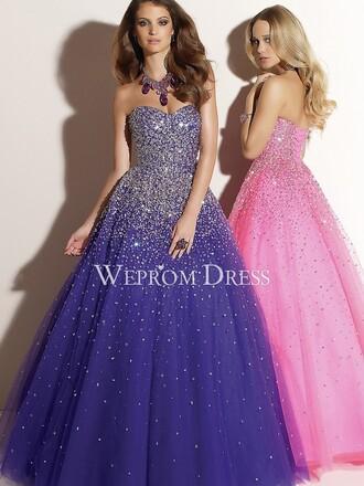 pink dress purple dress prom dress quinceanera dreses