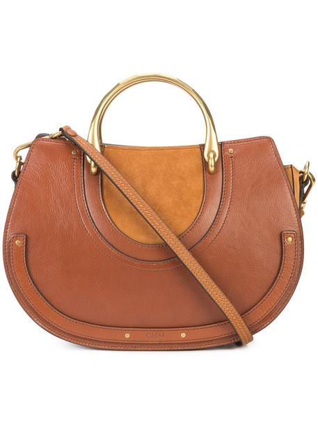 Chloe women bag shoulder bag leather brown
