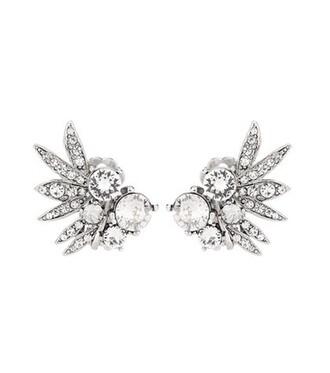 embellished earrings white jewels