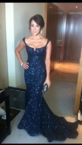 dress prom dress important prom dress katie richards blue sequin dress