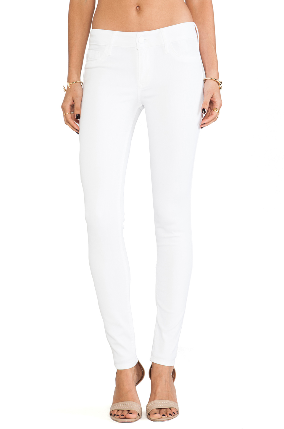 Black Orchid Mid Rise Skinny in Snow White   REVOLVE