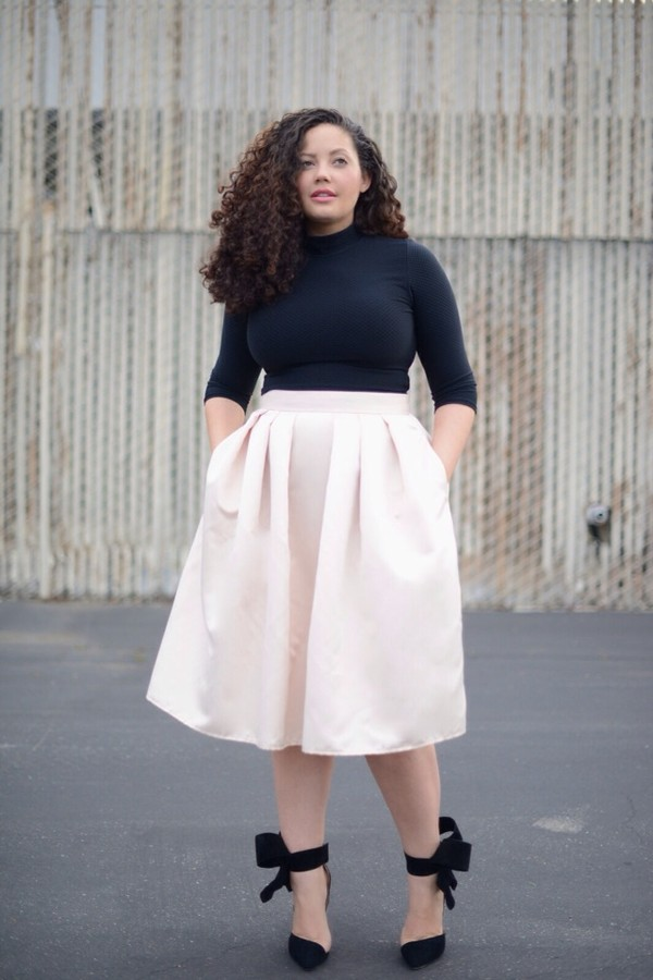 High waist pencil skirt with crop top