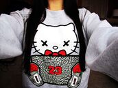 sweater,sweatshirt,hello kitty,air jordan,jacket,swag,pullover,red,23,air jordan 3,jordans,tumblr