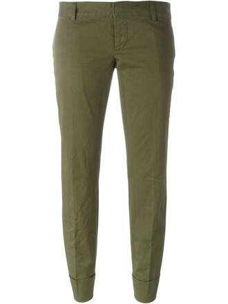 cropped green pants