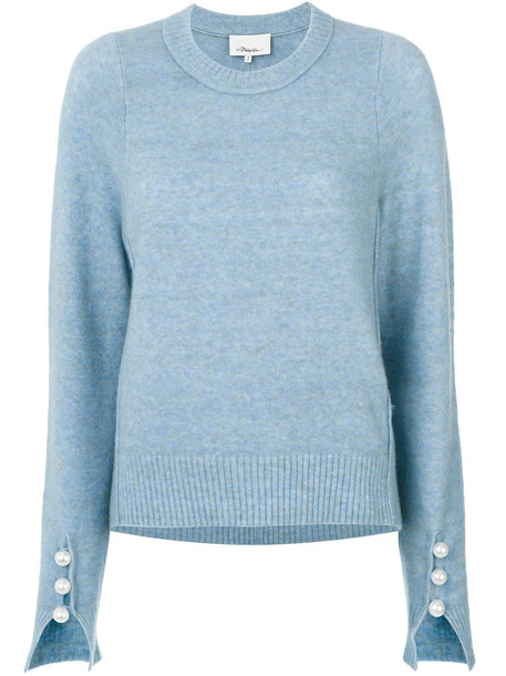 3.1 Phillip Lim sweater knitted sweater women classic spandex blue wool