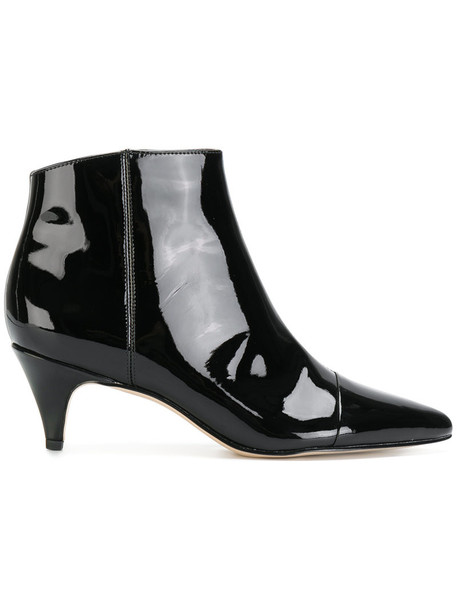 Sam Edelman women boots leather black shoes