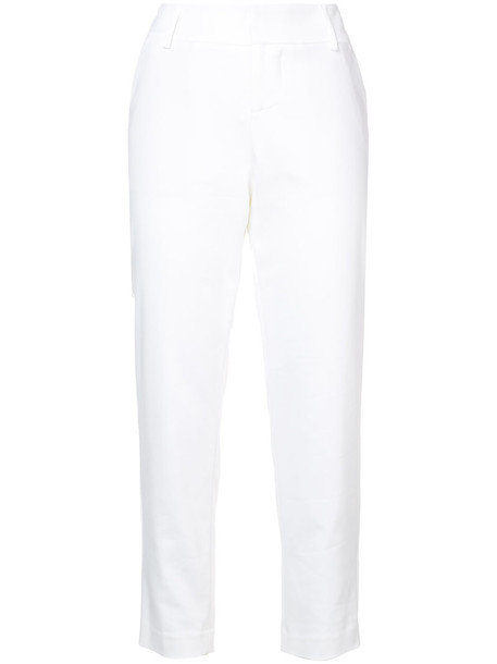 Alice+Olivia women spandex fit white cotton pants