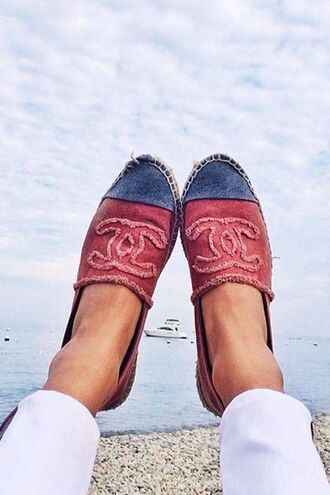 shoes chanel sneakers toms blue red summer shoes cute beautiful nice girly brand expencive
