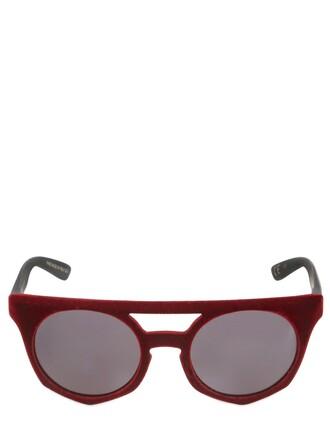 sunglasses velvet burgundy