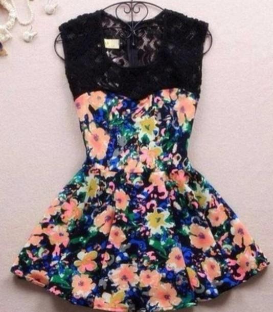 dress cute dress lace dress floral dress