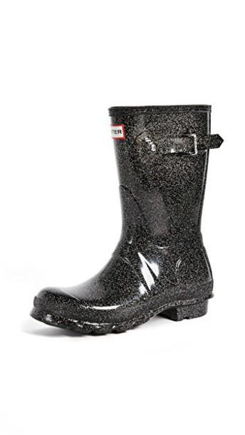 Hunter Boots short black shoes