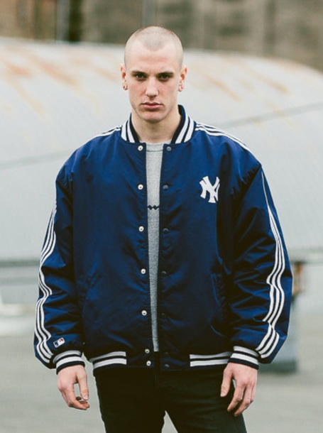 best service 6d68f 74cdd jacket yankees blue adidas baseball jacket bomber jacket