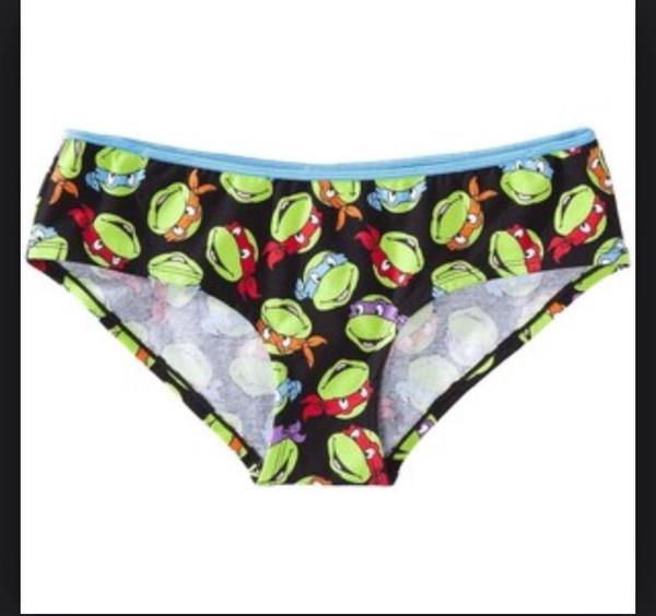 underwear panties cute ninja turtles