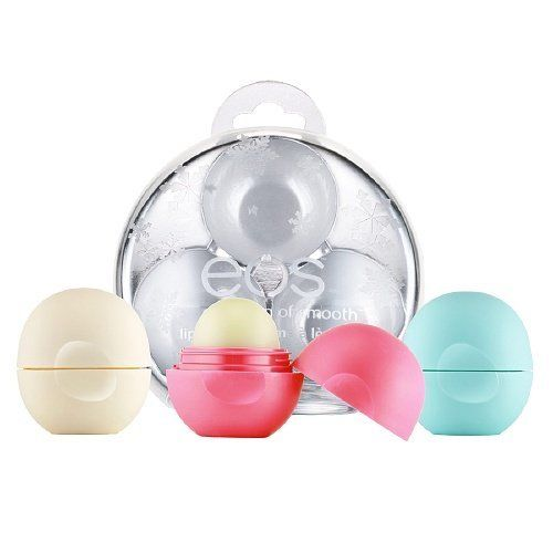 Eos holiday limited edition lip balm gift for thanksgiving and christmas