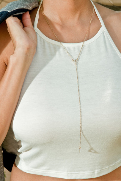 jewels necklace jewelry dainty necklace gold chain accessories