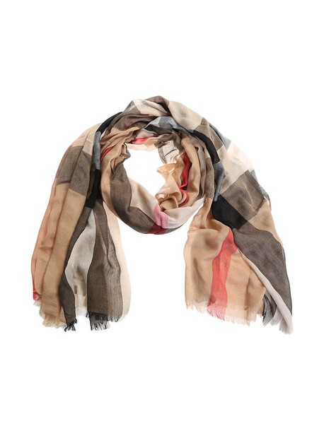 Burberry scarf cotton brown