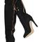 4 inch heels - black suede over the knee high heel boots