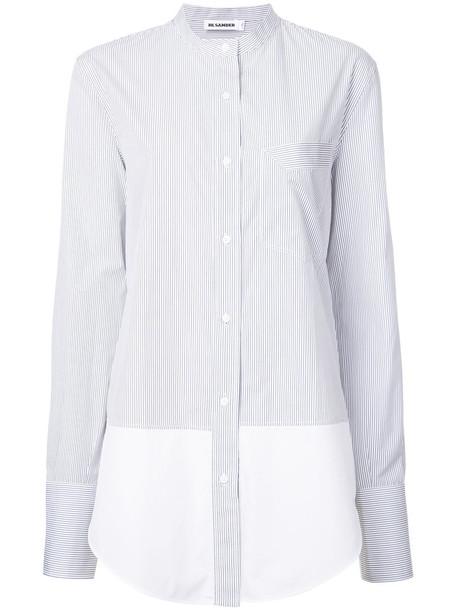 Jil Sander shirt striped shirt women cotton black top