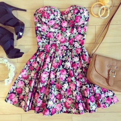 Candy Floral Pink Bustier Dress · Humbly Glam · Online Store Powered by Storenvy