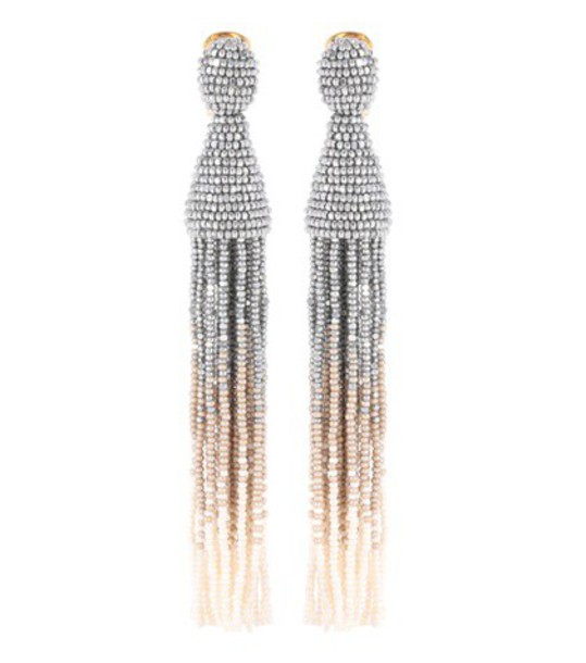 oscar de la renta earrings silver jewels